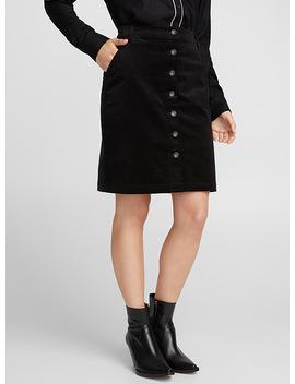 Corduroy Buttoned Skirt by Icône Icône Icône Icône Icône