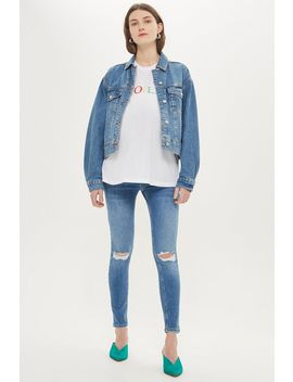 **Maternity Over The Bump Ripped Jamie Jeans by Topshop