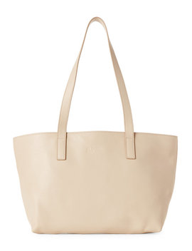 Saffiano Leather Small Tote by Jil Sander Navy