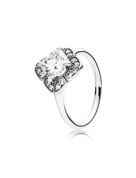 Crystalized Floral Fancy Ring, Clear Cz by Pandora