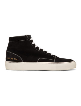 Baskets En Suède Noires Skate Mid by Common Projects