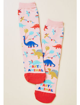 Party Animal Dinosaur Socks by Modcloth