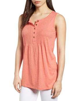 Pintuck Knit Tank by Caslon®