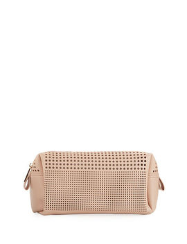 Perforated Cosmetics Bag by Neiman Marcus