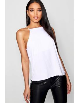 Square Neck Swing Cami by Boohoo