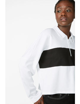 Spread Collar Polo by Monki