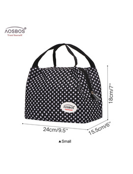 Aosbos Fashion Oxford Thermal Lunch Bags For Women Insulated Cooler Box Tote Men Kids Adults Portable Picnic Storage Container by Aosbos