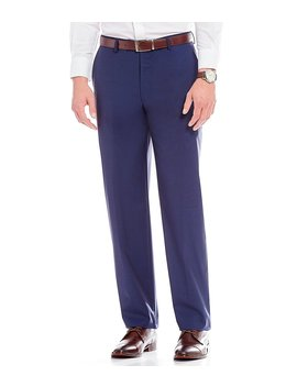 Modern Fit Flat Front Solid Dress Pants by Generic