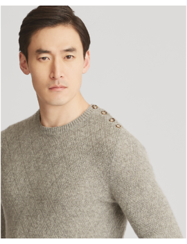 Single Button Cashmere Sweater by Ralph Lauren