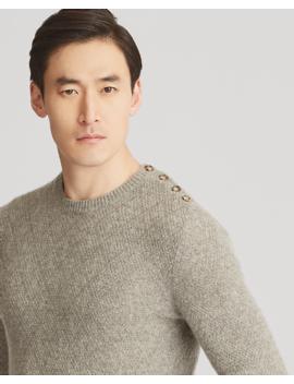 Single Button Cashmere Sweater by Ralph Lauren