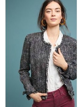 Tati Fringed Tweed Jacket by Greylin