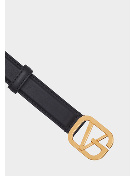 Calf Leather Gv Belt by Versace
