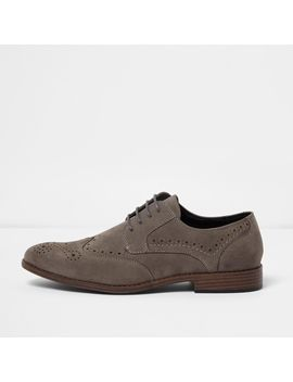 Grey Brogues by River Island