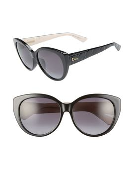Lady 58mm Cat Eye Sunglasses by Dior