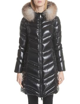 Fulmar Hooded Down Puffer Coat With Removable Genuine Fox Fur Trim by Moncler