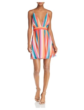 Rainbow Stripe Mini Dress   100 Percents Exclusive  by Aqua