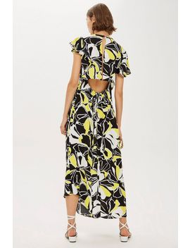 Floral Print Deconstructed Midi Dress by Topshop