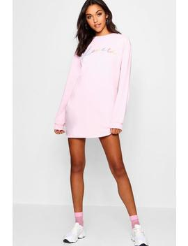 Lover Rainbow Sweat Dress by Boohoo