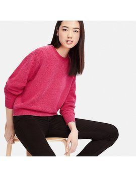 Women Premium Lambswool Crewneck Sweater by Uniqlo