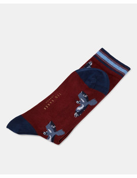 Bird Print Cotton Socks by Ted Baker