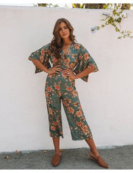 Jade Forest Kimono Jumpsuit by Vici