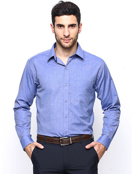 Hancock Blue Slim Fit Formal Shirt by Hancock