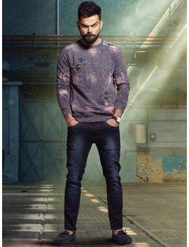 Wrogn Men Blue Skinny Fit Mid Rise Clean Look Stretchable Jeans by Wrogn