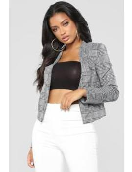 Not So Serious Blazer   Grey by Fashion Nova
