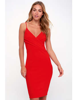 Light My Fire Red Bodycon Dress by Lulu's