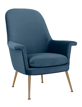 Aimee Velvet Arm Chair by Safavieh
