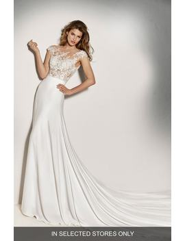 Guadiana Crepe Skirt by Pronovias