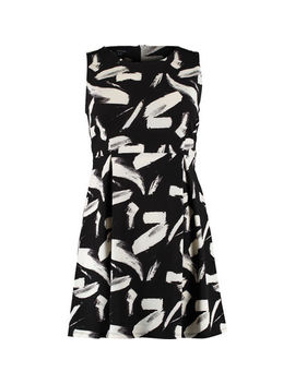 Monochrome Sleeveless Crepe Mini Dress by Samya