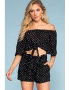 Balfor Polka Dot High Waisted Shorts by Priceless