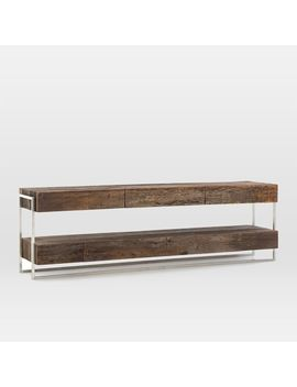 Modern Reclaimed Wood + Metal Media Console by West Elm