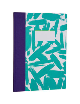 a4-turquoise-bold-brush-notebook by ohh-deer-ltd