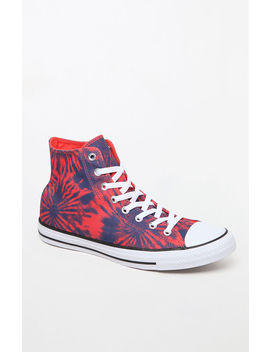 Chuck Taylor All Star Hi Tie Dye Shoes by Converse