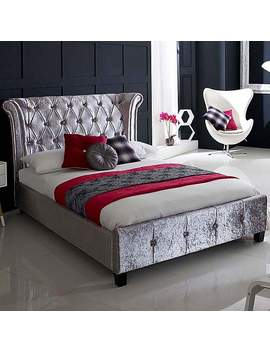 Epsilon Crushed Ice Upholstered Bed by Dunelm