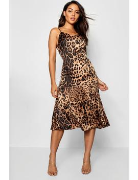 Frill Hem Leopard Print Midaxi Dress by Boohoo