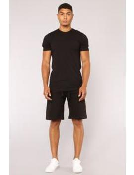 Jimmy Sweat Shorts   Black by Fashion Nova