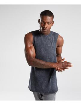 Acid Wash Drop Arm Sleeveless T Shirt by Gymshark