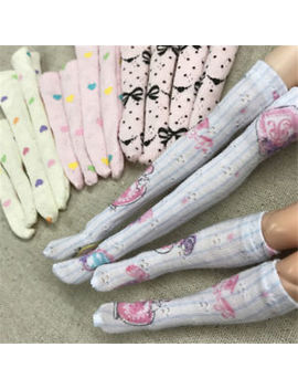 1 Pair Cute Doll Knee Sock Stocking For Blythe Azone Barbie 1/6 Doll Clothes Percents Hu by Unbranded