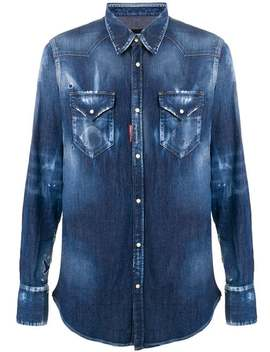 Distressed Denim Shirt by Dsquared2