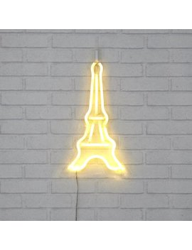 Mainstays Eiffel Tower Flex Neon Light On Die Cut Frame by Online