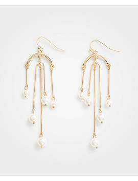 Pearlized Chandelier Earrings by Ann Taylor