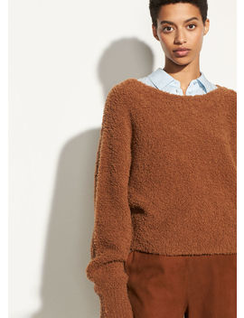 Teddy Cropped Boatneck by Vince