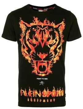 Plein Sport T Shirt Mit Tiger Print Home Herren Plein Sport Kleidung T Shirts by Plein Sport