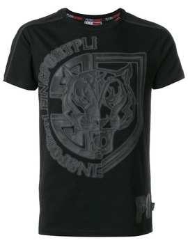 Plein Sport T Shirt Mit Print Home Herren Plein Sport Kleidung T Shirts Jogginghose Mit Besatzstreifen T Shirt Mit Print by Plein Sport