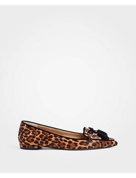 Ada Leopard Print Haircalf Tassel Flats by Ann Taylor