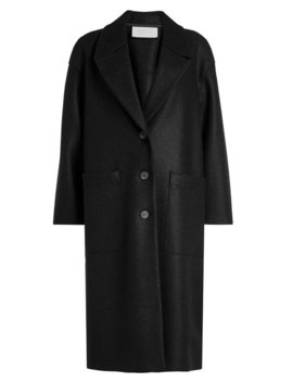 Oversized Virgin Wool Coat by Harris Wharf London