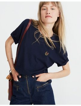 Madewell X Karen Walker® Embroidered Horseshoe Tee by Madewell